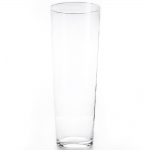 clear glass vase (80cm)