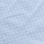light blue spotted table runner