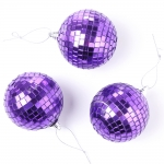 purple disco baubles
