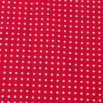 red spotted table runner