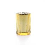 gold tealight holder ribbed